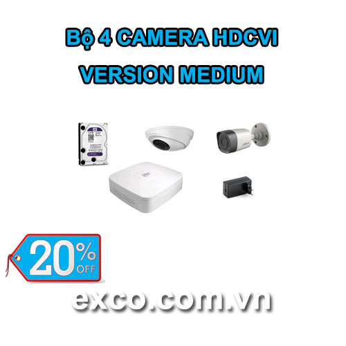 EXCO TECH BỘ CAMERA HDCVI 4C(MEDIUM)