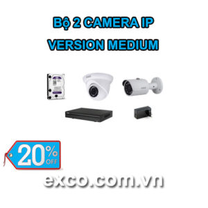 EXCO TECH BỘ CAMERA IP 2C(MEDIUM)
