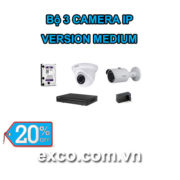 EXCO TECH BỘ CAMERA IP 3C(MEDIUM)