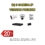 EXCO TECH BỘ CAMERA IP 3C(PREMIUM)