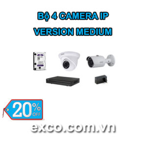 EXCO TECH BỘ CAMERA IP 4C(MEDIUM)