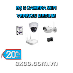 EXCO TECH BỘ CAMERA WIFI 2C(MEDIUM)