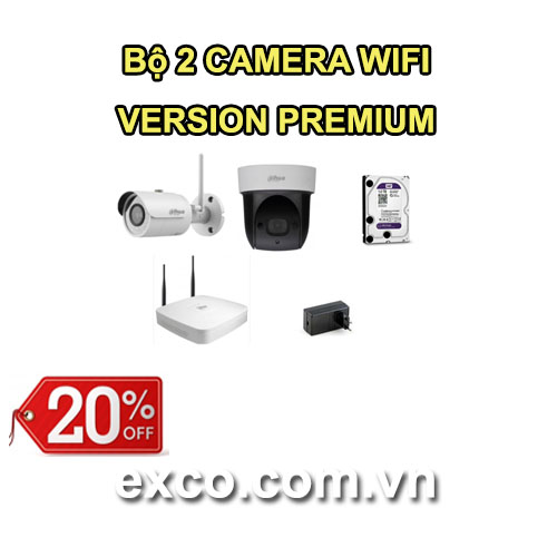 EXCO TECH BỘ CAMERA WIFI 2C(PREMIUM)